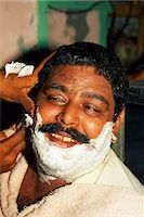 punjabi - A close shave: most men in Pakistan visit a barber several times each week. Stock Photo - Premium Rights-Managednull, Code: 862-03360410