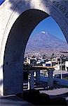 View of El Misti volcano 5821m through stone arch. Stock Photo - Premium Rights-Managed, Artist: AWL Images, Code: 862-03360429