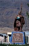 Peru,Colca Canyon,Madrigal,Statue of Mayta Capac,the Inca who conquered the Colca Valley Stock Photo - Premium Rights-Managed, Artist: AWL Images, Code: 862-03360443