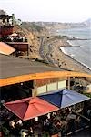 Restaurants and shops overlooking the beach at Miraflores in Lima,Peru Stock Photo - Premium Rights-Managed, Artist: AWL Images, Code: 862-03360588