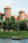 Wawel Hill Castle above Boat on the Vistula River Stock Photo - Premium Rights-Managed, Artist: AWL Images, Code: 862-03360835