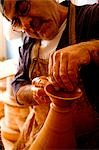 Portugal,Alentejo,Estremoz. A Portuguese potter at work in his studio in the Alentejo region of Portugal which is famous for its ceramics. Stock Photo - Premium Rights-Managed, Artist: AWL Images, Code: 862-03360936