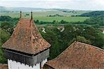 Romania,Transylvania,Viscri. View from the roof of the UNESCO protected Viscri Church. Stock Photo - Premium Rights-Managed, Artist: AWL Images, Code: 862-03360990