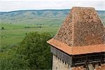 Romania,Transylvania,Viscri. View from the roof of the UNESCO protected Viscri Church. Stock Photo - Premium Rights-Managed, Artist: AWL Images, Code: 862-03360991