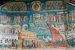 Romania,Moldova,Gura Humorului. Detail from a wall of the painted Voronet Monastery. Stock Photo - Premium Rights-Managed, Artist: AWL Images, Code: 862-03360998
