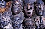 African masks at the flea-market in Greenmarket Square Stock Photo - Premium Rights-Managed, Artist: AWL Images, Code: 862-03361138