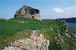 Dun Carloway is one of the best preserved examples of a broch or fortified tower in Scotland. Dating back to around 100BC,the broch consists of two concentric drystone walls,the inner one rising perpendicular and the outer one slanting inwards. It is thought that the brochs were built to provide protection against Roman slave traders. Stock Photo - Premium Rights-Managed, Artist: AWL Images, Code: 862-03361341