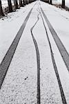 Tire Tracks on Snow Stock Photo - Premium Rights-Managed, Artist: Ben Seelt, Code: 700-03361599