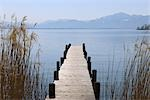 Dock on Lake Chiemsee, Gstadt, Bavaria, Germany Stock Photo - Premium Royalty-Free, Artist: Raimund Linke, Code: 600-03361601