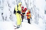 Group of snowshoers on Deer Mountain during heavy snowfall near Ketchikan in Southeast Alaska Stock Photo - Premium Rights-Managed, Artist: AlaskaStock, Code: 854-03361720