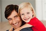 father and daughter hugging Stock Photo - Premium Royalty-Freenull, Code: 649-03362710