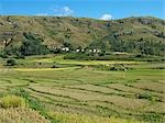 Rice paddies and a Betsileo hamlet near Ambalavao,Madagascar Stock Photo - Premium Rights-Managed, Artist: AWL Images, Code: 862-03364032