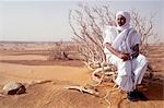 Mauritanian guide in the desert.