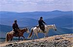 Mongolia,Khentii Province. Horse Herders on the move. Stock Photo - Premium Rights-Managed, Artist: AWL Images, Code: 862-03364533
