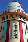 The brightly coloured Art Deco cinema-theatre Rialto on rue Mohammed Qorri. Built in 1930 by Pierre Jabin,in its time it played host to musical stars such as Josephine Baker and Edith Piaf. Stock Photo - Premium Rights-Managed, Artist: AWL Images, Code: 862-03364641