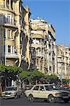 The view down Boulevard de Paris,Casablanca. The streets of the Ville Nouvelle are lined with Art Deco and Art Nouveau buildings built during the French colonial period. Stock Photo - Premium Rights-Managed, Artist: AWL Images, Code: 862-03364677