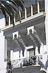 A period balcony from an Art Deco villa in downtown Casablanca. Stock Photo - Premium Rights-Managed, Artist: AWL Images, Code: 862-03364685