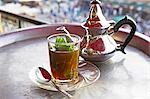 Mint tea,Morocco's favourite drink. Stock Photo - Premium Rights-Managed, Artist: AWL Images, Code: 862-03364733