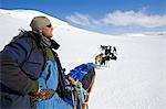 Norway,Troms,Lyngen Alps. Veteran Polar Explorer Norwegian Per Thore Hansen uses his dog sled team to cross the Lyngen Alps inland from Tromso in northern Norway. . Stock Photo - Premium Rights-Managed, Artist: AWL Images, Code: 862-03365587