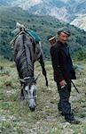 Kazakh herders with his horse Stock Photo - Premium Rights-Managed, Artist: AWL Images, Code: 862-03365951