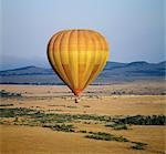 An early morning hot air balloon flight over Masai Mara. Stock Photo - Premium Rights-Managed, Artist: AWL Images, Code: 862-03366240