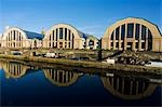 Hangars of the Central Market Reflected in a Canal Stock Photo - Premium Rights-Managed, Artist: AWL Images, Code: 862-03367076