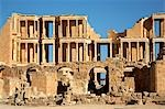 View of the back of the heavily restored Theatre at Sabratha,Libya. Stock Photo - Premium Rights-Managed, Artist: AWL Images, Code: 862-03367181