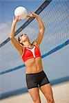 Woman Playing Volleyball Stock Photo - Premium Royalty-Free, Artist: Ty Milford, Code: 600-03368486
