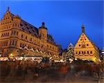 Christmas Market at Dusk, Rothenburg ob der Tauber, Bavaria, Germany Stock Photo - Premium Rights-Managed, Artist: Raimund Linke, Code: 700-03368537