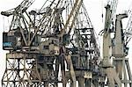 Old Cranes at Harbour in Antwerp, Flanders, Belgium Stock Photo - Premium Rights-Managed, Artist: Ben Seelt, Code: 700-03368641