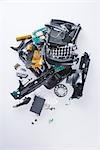 Broken and Smashed Cell Phone Stock Photo - Premium Rights-Managed, Artist: Ron Fehling, Code: 700-03368688