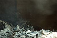 Ashes in wood oven Stock Photo - Premium Royalty-Freenull, Code: 695-03375517