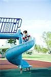 Child on playground equipment Stock Photo - Premium Royalty-Free, Artist: Chad Johnston, Code: 695-03375897