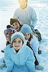 Group having fun in snow, portrait Stock Photo - Premium Royalty-Free, Artist: Water Rights, Code: 695-03376146