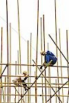 Two construction workers putting together scaffolding Stock Photo - Premium Royalty-Free, Artist: Cusp and Flirt, Code: 695-03378137