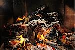 Firewood burning, close-up Stock Photo - Premium Royalty-Free, Artist: Sheltered Images, Code: 695-03378374