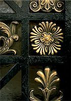 pattern (man made design) - Brass floral motif, close-up Stock Photo - Premium Royalty-Freenull, Code: 695-03380809