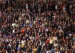 Crowd of spectators, full frame Stock Photo - Premium Royalty-Free, Artist: Masterfile, Code: 695-03380825