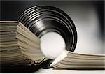 Spiral bound book, extreme close-up Stock Photo - Premium Royalty-Free, Artist: Eyecandy Pro, Code: 695-03381059