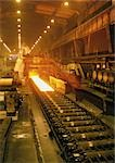 Molten steel in rolling mill, long shot Stock Photo - Premium Royalty-Free, Artist: Arcaid, Code: 695-03381562