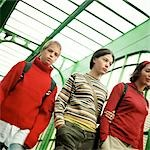 Three teenagers in subway station, low angle view Stock Photo - Premium Royalty-Free, Artist: F1Online, Code: 695-03382262