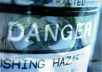 prevention - Danger typography in blues, montage Stock Photo - Premium Royalty-Freenull, Code: 695-03383781
