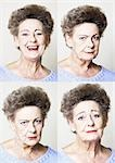 Senior woman, four portraits Stock Photo - Premium Royalty-Free, Artist: Kam Yu, Code: 695-03385960
