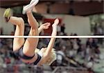 Female high jumper clearing bar Stock Photo - Premium Royalty-Free, Artist: Aflo Sport               , Code: 695-03386280