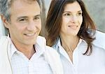 Mature couple smiling Stock Photo - Premium Royalty-Freenull, Code: 695-03388446