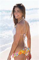 Woman Wearing Bikini on Beach Stock Photo - Premium Rights-Managednull, Code: 700-03392389