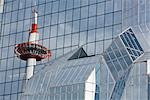 Reflection of Kyoto Tower, Kyoto, Kyoto Prefecture, Kansai Region, Honshu, Japan