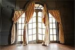 Window and Curtain in Abandoned Mansion, Newport, Rhode Island, USA Stock Photo - Premium Rights-Managed, Artist: Michael Eudenbach, Code: 700-03392485