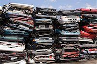 Stacks of crushed cars Stock Photo - Premium Royalty-Freenull, Code: 614-03393903