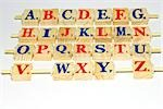 Wooden alphabet blocks, close-up Stock Photo - Premium Royalty-Freenull, Code: 696-03395698
